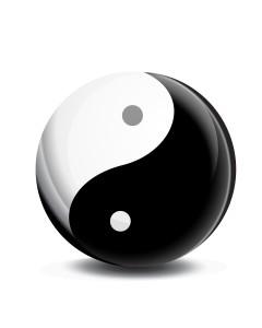 yin yang symbol vector icon symbol